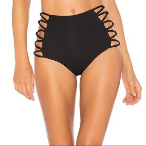 L*Space Tripp high rise Bikini Bottom Black Medium